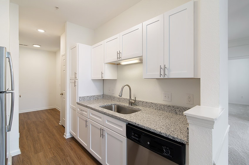 Renovated Kitchen Counters, Appliances, and Cabinets at Avemore