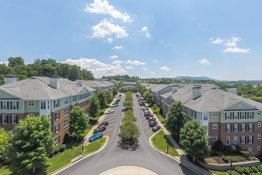 Aerial Shot of Avemore Apartments in Charlottesville, VA