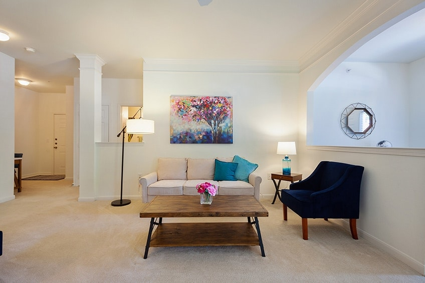 Model Carpeted Common Area at Avemore Apartment Homes
