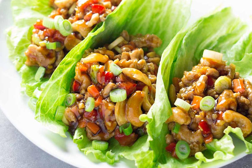 lettuce wraps with chicken